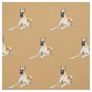 Tecido da arte do cão de great dane