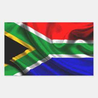Tecido da bandeira de África do Sul Adesivo Retangular