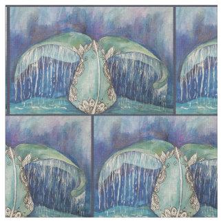 tecido da cauda da baleia