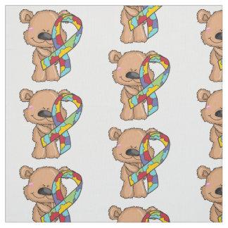 Tecido da consciência do urso da fita do autismo