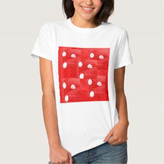 Tecido da forma - bordado nativo na seda do cetim camiseta