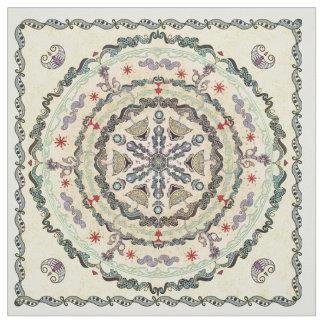 Tecido da mandala do estilo do Henna