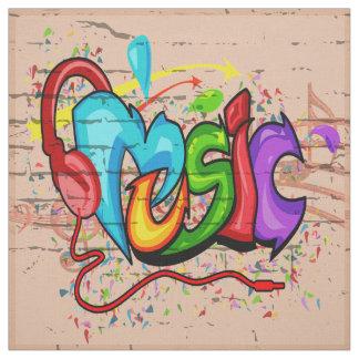 Tecido da parede dos grafites da música
