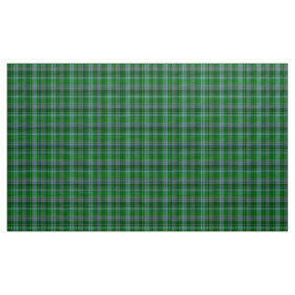 Tecido da xadrez do verde azul e do preto do