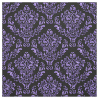 Tecido Damasco roxo no fundo preto ou *Any da cor