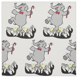 Tecido Dança do elefante para a multidão ALGUMA COR