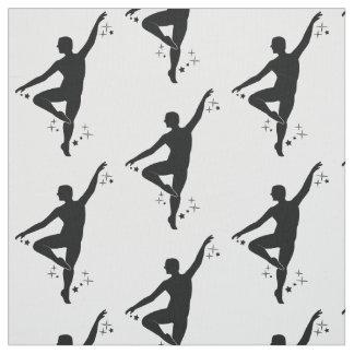 Tecido Dançarino masculino com estrelas