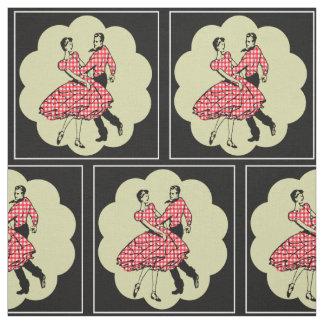 Tecido Dançarinos do país dos dançarinos quadrados que
