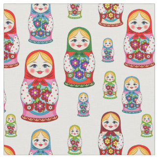 Tecido das bonecas do russo