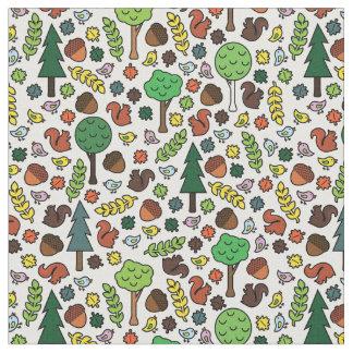 Tecido das criaturas da floresta