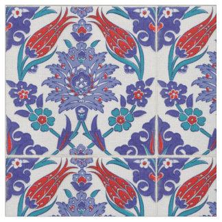 Tecido de algodão azul do teste padrão de Boho do