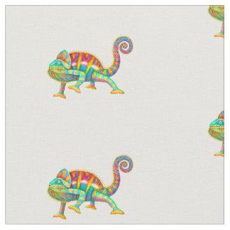 Tecido de algodão colorido do camaleão da pantera
