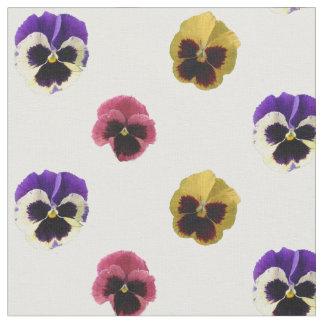 Tecido de algodão colorido dos Pansies