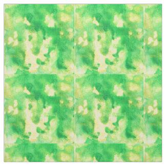 Tecido de algodão de Pima da aguarela do verde