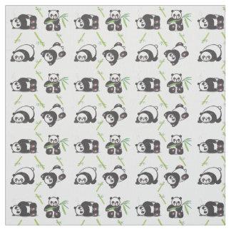 Tecido de algodão de Pima das pandas de Kawaii