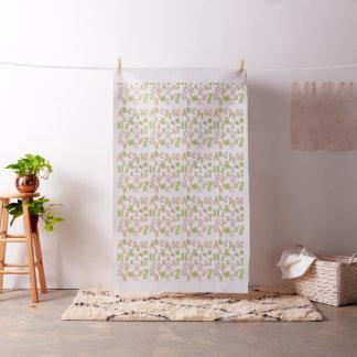 Tecido de algodão do rosa do alfabeto, o verde e o
