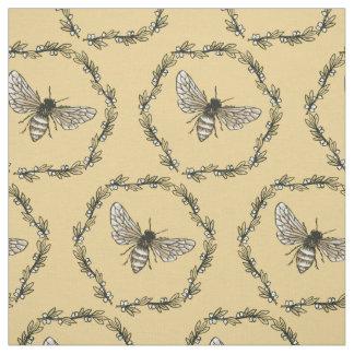 Tecido de algodão elegante do impressão da abelha