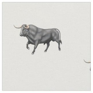 Tecido de algodão escovado Bull preto grande