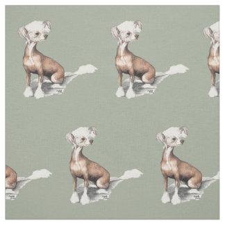 Tecido de assento com crista chinês da arte do cão