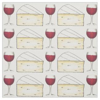 Tecido de Foodie do queijo do vidro e do brie de
