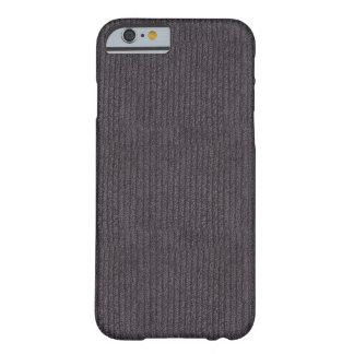 Tecido de linho cinzento abstrato moderno do teste capa barely there para iPhone 6
