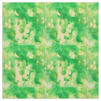 Tecido de linho do marfim da aguarela do verde