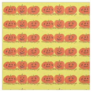 Tecido de sorriso feliz do Dia das Bruxas de três