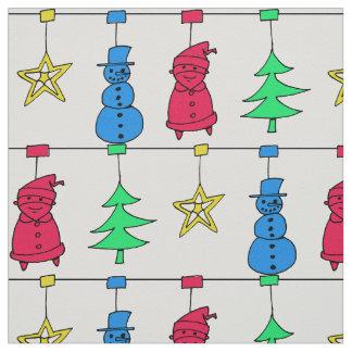 Tecido Decorações da árvore de Natal