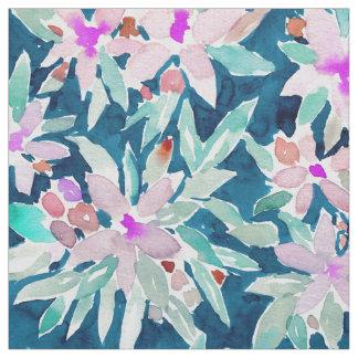 Tecido DEIXADO VAI a aguarela tropical floral
