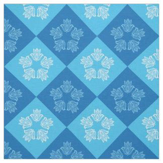 Tecido Design azul moderno do teste padrão de flor de