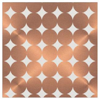 Tecido Design de cobre metálico dos pontos do falso