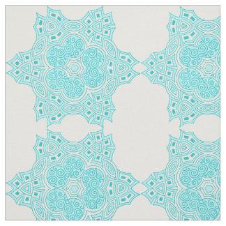 Tecido Design étnico de turquesa