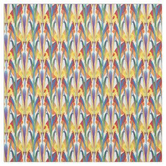 Tecido Design floral do teste padrão do arco-íris