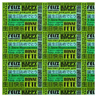 Tecido Design internacional do feliz aniversario