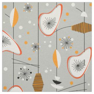 Tecido Design moderno do meio século atômico dos anos 50