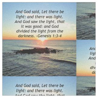 Tecido Design sereno da bíblia do 1:3 da génese do nascer