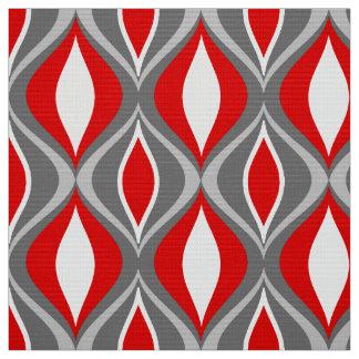 Tecido Diamantes, cinzas/cinza & vermelho modernos do