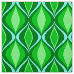 Tecido Diamantes modernos do meio século, verde esmeralda