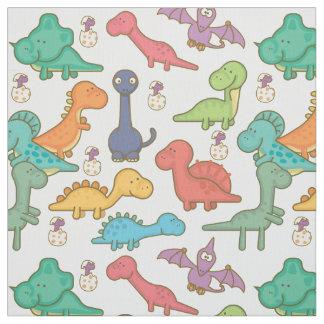 Tecido Dinossauros bonitos e coloridos ID459 dos desenhos