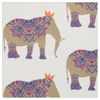 Tecido Divertimento irrisório bonito decorado do elefante