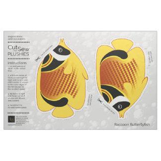 Tecido DIY cortou & Sew Butterflyfish do guaxinim do