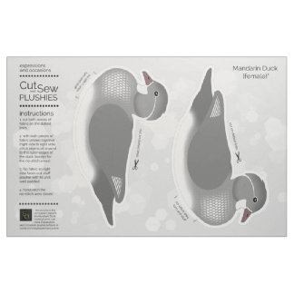 Tecido DIY cortou & Sew o pato de mandarino fêmea do