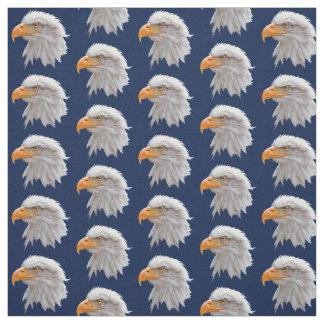 Tecido do Alasca da águia americana (marinho)