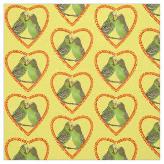 Tecido do amor e dos beijos (amarelo)