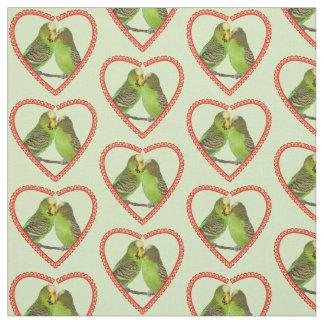 Tecido do amor e dos beijos (luz - verde)