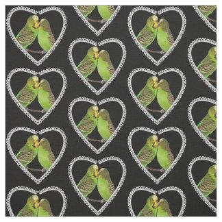 Tecido do amor e dos beijos (preto)