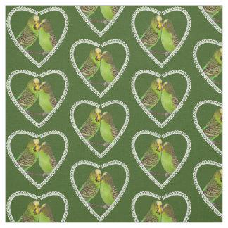 Tecido do amor e dos beijos (verde escuro)