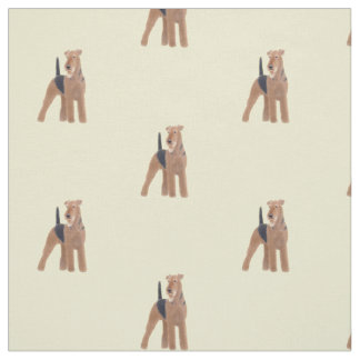 Tecido do cão de Airedale Terrier