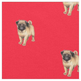 Tecido do cão de filhote de cachorro do Pug