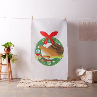 tecido do caracol do Feliz Natal